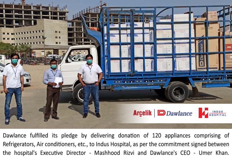 Dawlance donates & delivers 120 appliances to Indus Hospital to fight COVID-19