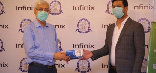 Mr. Saad Shams, Marketing Director for Infinix Pakistan & Vice Chancellor of DOW Medical Institute, Muhammad Saeed Qureshi