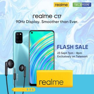 realme C17, most affordable 6 GB + 128 GB smartphone is launching online 23rd Sep followed by Telemart Flash Sale