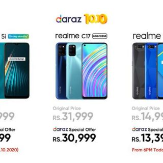 10.10 Sale offers live at realme's official store on Daraz. Biggest Discount offers of 2020 on smartphones & AIoT