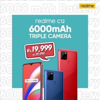 Value King realme C12 with massive 6000 mAh battery is now available at Rs 19,999 only