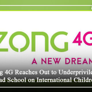 Zong 4G Reaches Out to Underprivileged Islamabad School on Intl' Children's Day
