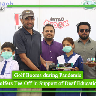 Golf Booms during Pandemic Golfers Tee Off in Support of Deaf Education
