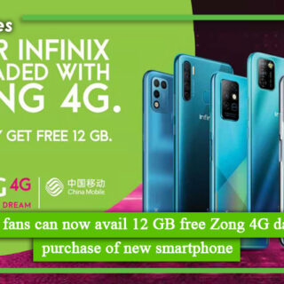 Infinix fans can now avail 12 GB free Zong 4G data on purchase of new smartphone