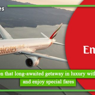 Embark on that long-awaited getaway in luxury with Emirates and enjoy special fares