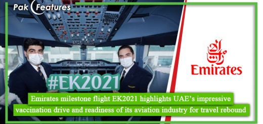 Emirates milestone flight EK2021 highlights UAE's impressive vaccination drive and readiness of its aviation industry for travel rebound