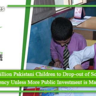 More than 1 Million Pakistani Children to Drop out of Schools After the COVID Emergency Unless More Public Investment is Made in Education