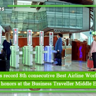 Emirates wins record 8th consecutive Best Airline Worldwide award, racking up three honors at the Business Traveller Middle East Awards 2021