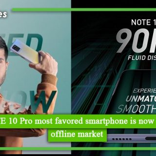 Infinix NOTE 10 Pro most favored smartphone is now available in offline market