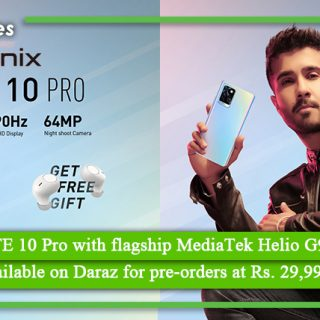 Infinix NOTE 10 Pro with flagship MediaTek Helio G95 chipset is available on Daraz for preorders