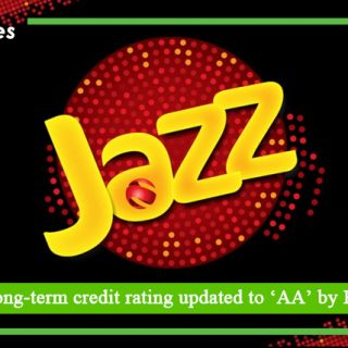 Jazz's long term credit rating updated to 'AA' by PACRA