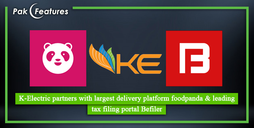 KElectric partners with largest delivery platform foodpanda & leading tax filing portal Befiler
