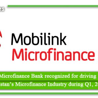 Mobilink Microfinance Bank recognized for driving growth of Pakistan's Microfinance Industry during Q1, 2021