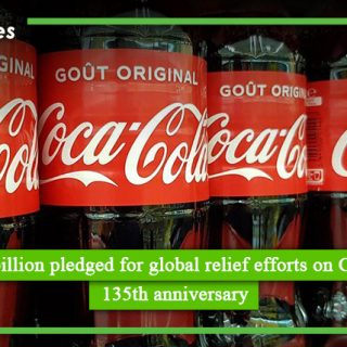 Rupees 5 billion pledged for global relief efforts on Coca Cola's 135th anniversary