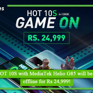 Infinix HOT 10S with MediaTek Helio G85 will be available offline for Rs 24,999
