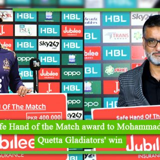 JLI Gives Safe Hand of the Match award to Mohammad Nawaz after Quetta Gladiators' win