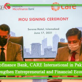 Mobilink Microfinance Bank, CARE International in Pakistan sign MoU to Strengthen Entrepreneurial and Financial Ecosystem