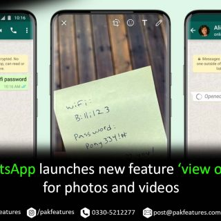WhatsApp launches new feature 'view once' for photos and videos